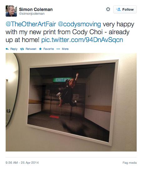 The other art Fair - tweet