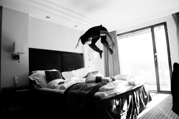 Cody in hotel - Riga, Latvia #2